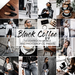 Black Coffee Lightroom Mobile Presets