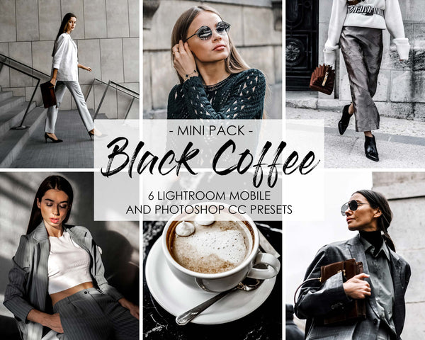 Black Coffee Presets for Lightroom and Photoshop