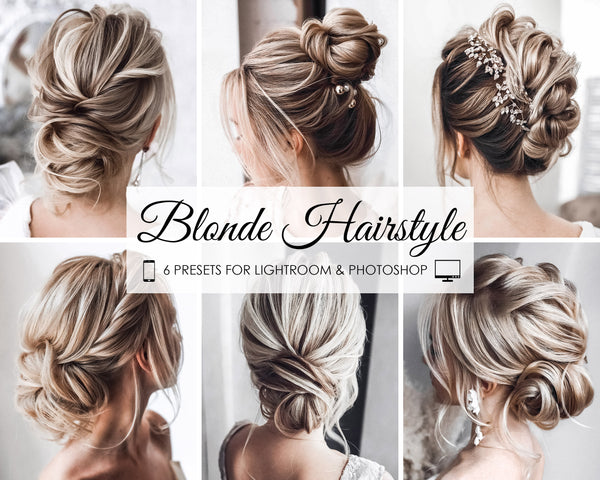 Blonde Hairstyle Presets For Lightroom and Photoshop