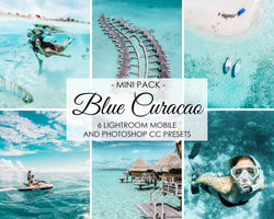 Blue Curacao Lightroom Mobile And Photoshop Presets