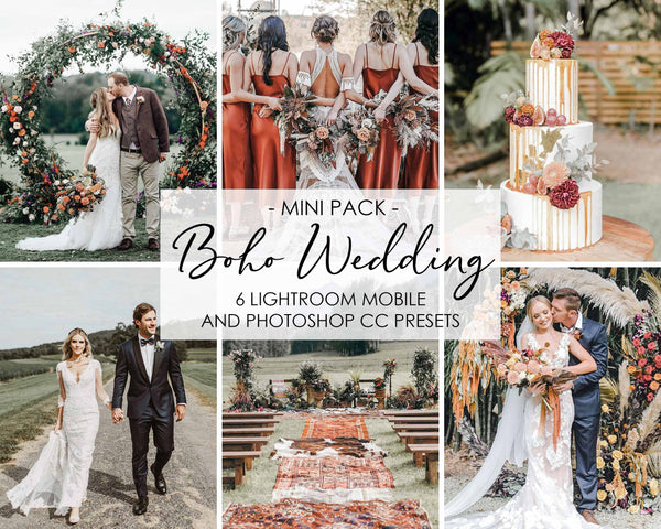 Boho Wedding Presets For Lightroom And Photoshop