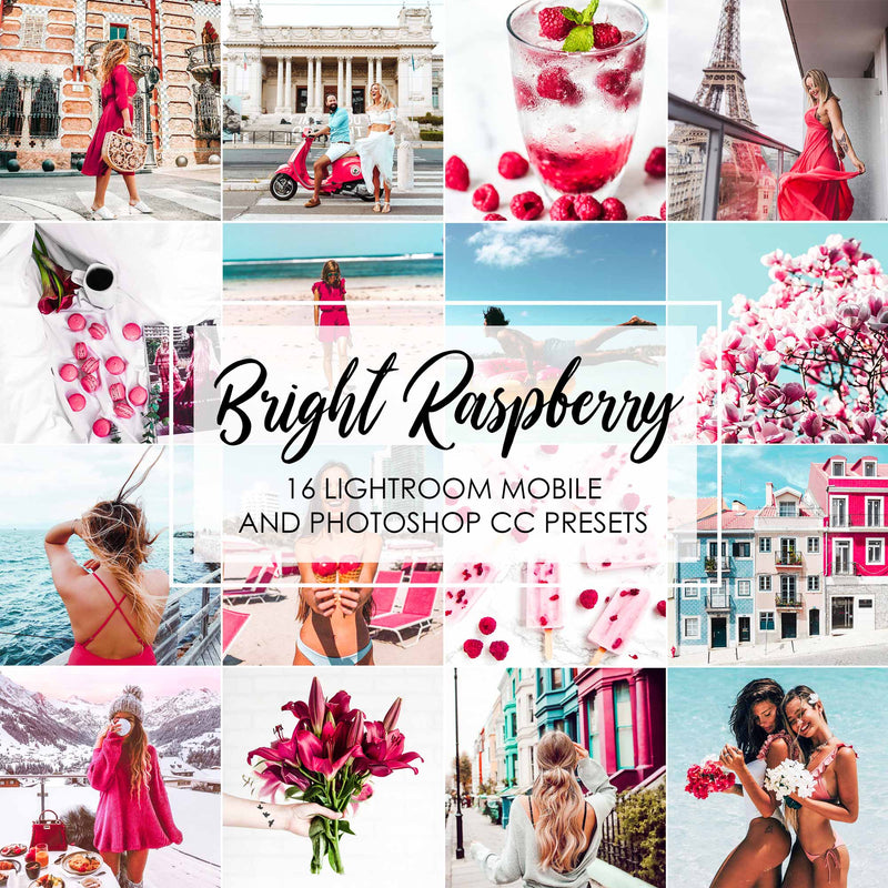 Bright Raspberry Pink And Blue Lightroom Presets
