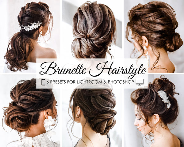 Brunette Hairstyle Lightroom And Photoshop Presets