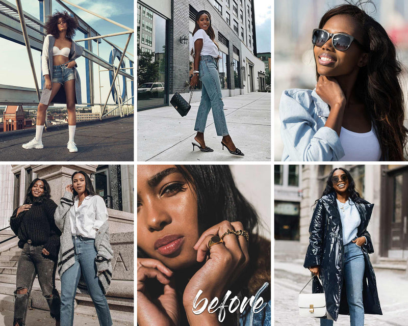 Choco Blogger Dark Skin Lightroom Presets for iPhone