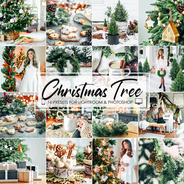 Christmas Tree Lightroom Presets for Winter Season