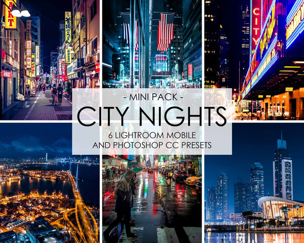 City Nights Preset For Lightroom And Low Light Photography Photoshop Filters