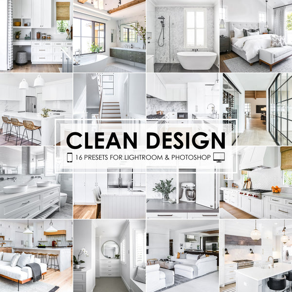 Clean Design Home Real Estate Lightroom Presets