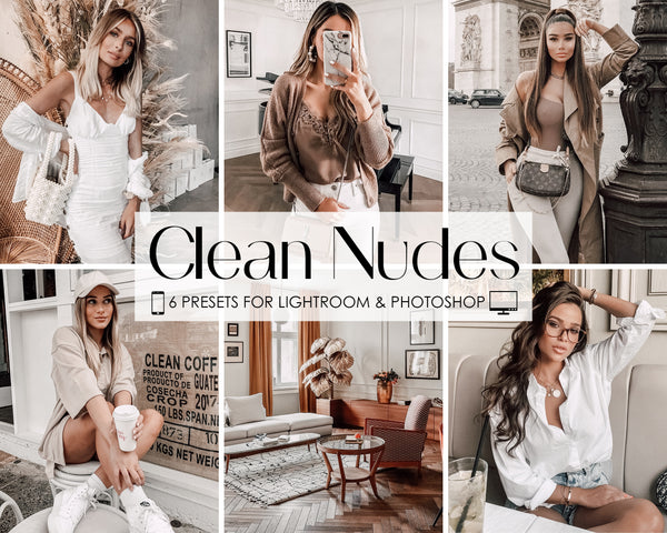 Clean Nudes Fashion Lifestyle Lightroom Presets for iPhone