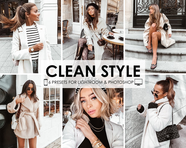 Clean Style Presets for Lightroom and Photoshop CC