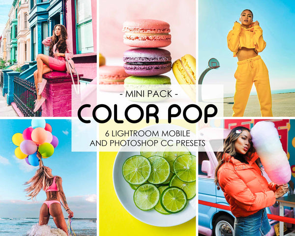 Color Pop Vibrant Presets For Lightroom And Photoshop
