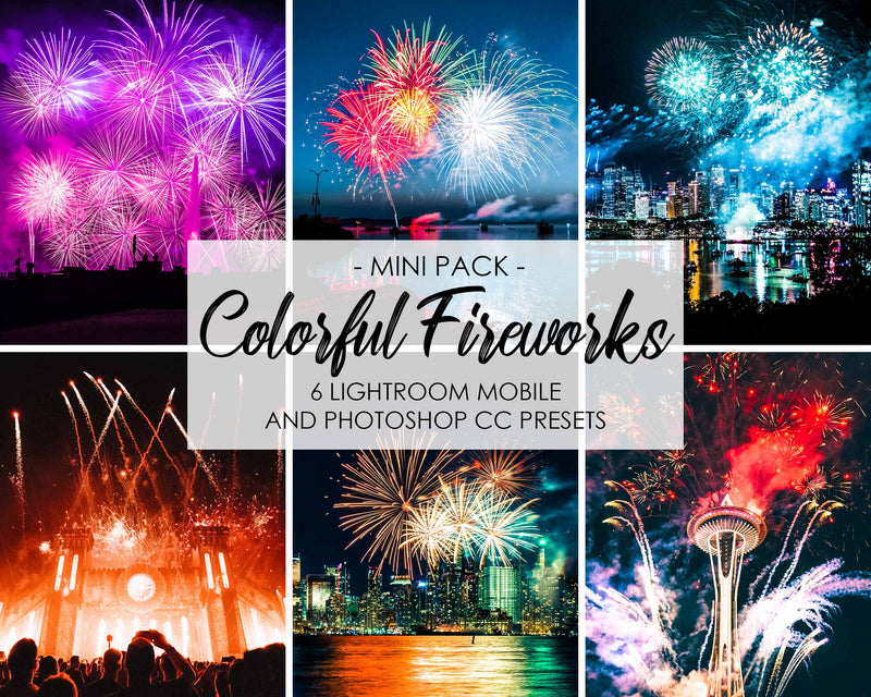 Colorful Fireworks Happy New Year Presets for Lightroom