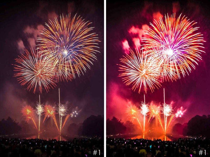 Colorful Fireworks Happy New Year Presets For Lightroom CC and Classic