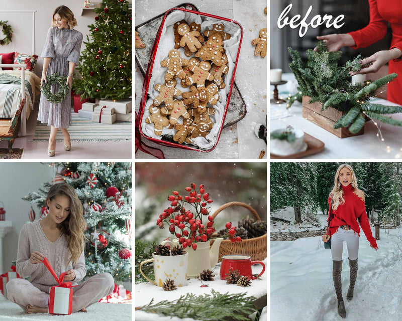 Cranberry Christmas Presets For Photoshop And Lightroom CC And Classic