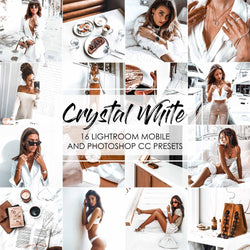Crystal White Presets For Lightroom and Adobe Photoshop