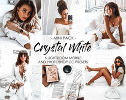 Crystal White and Chocolate Presets For Lightroom Mobile