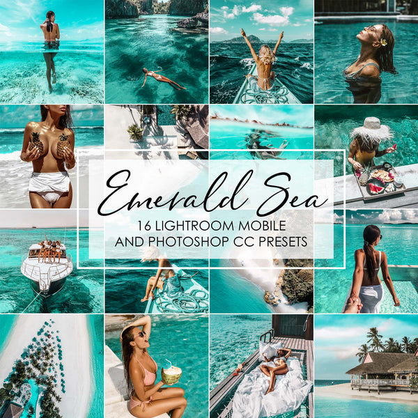 Emerald Sea Aqua Blue Lightroom Presets Pack
