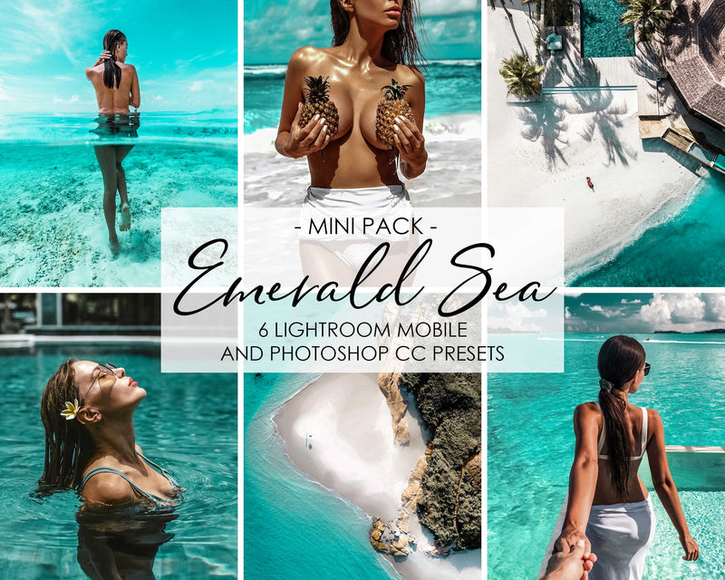 Emerald Sea Lightroom and Photoshop Presets Pack