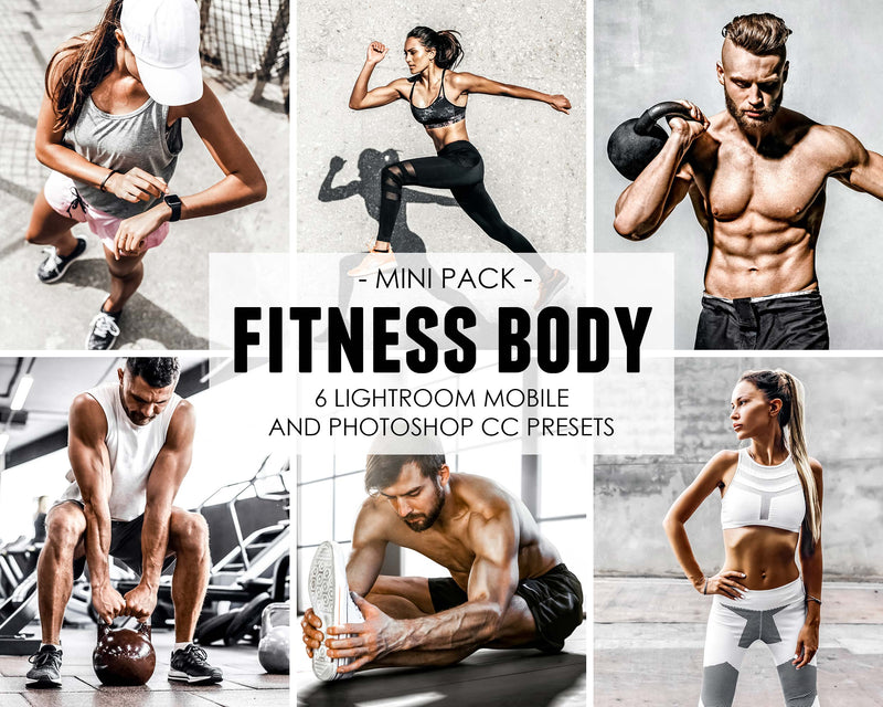 Fitness Body Sports and Gym Workout Lightroom Presets
