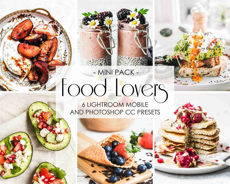 Food Presets For Lightroom And Photoshop, Facebook and Instagram