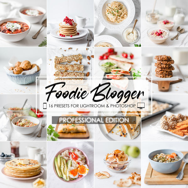 Foodie Blogger Food Presets for Lightroom