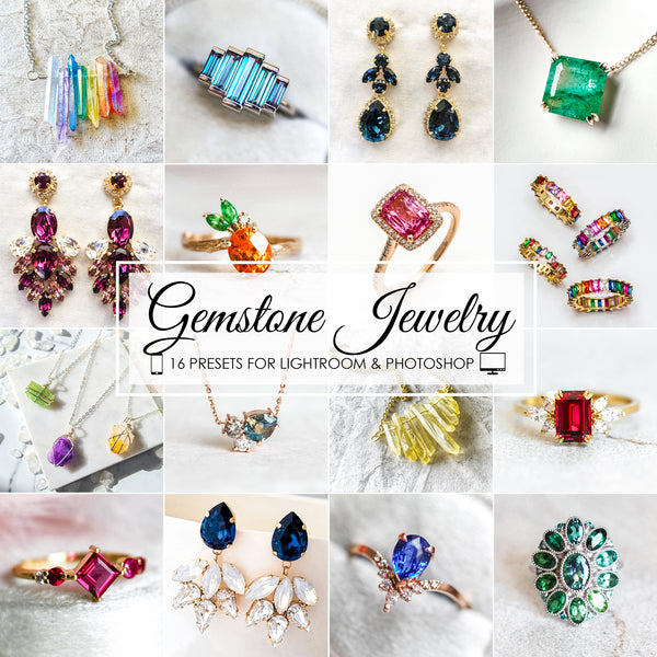 Gemstone Jewelry Presets for Lightroom and Photoshop