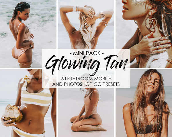 Glowing Tan Summer Beach Presets For Lightroom iPhone Mobile