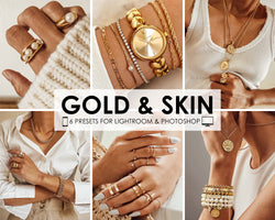 Gold And Skin Lightroom Presets, Product Photography Photo Editing Filters