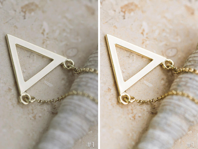 Gold Jewelry Lightroom Presets and Photoshop Filters for Product Photography