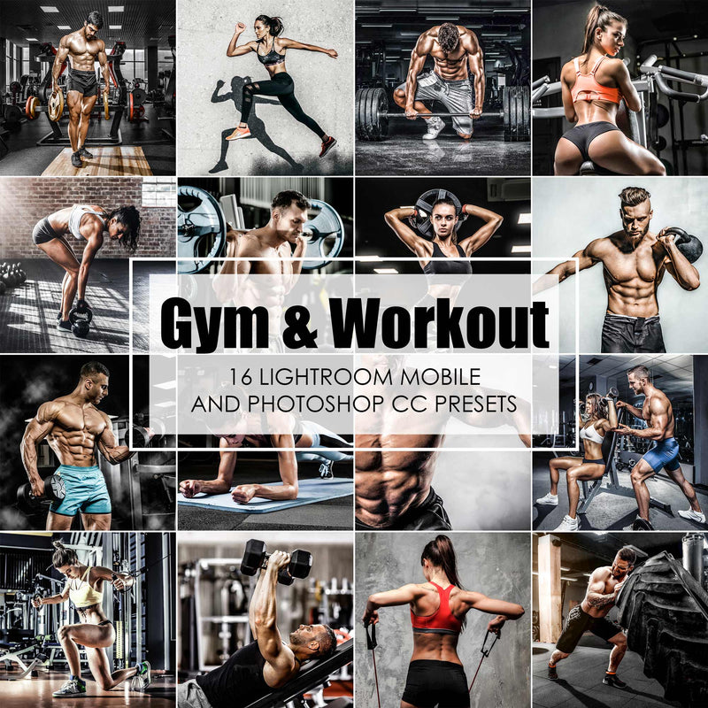 Gym and Workout Fitness Presets For Lightroom Classic and Mobile