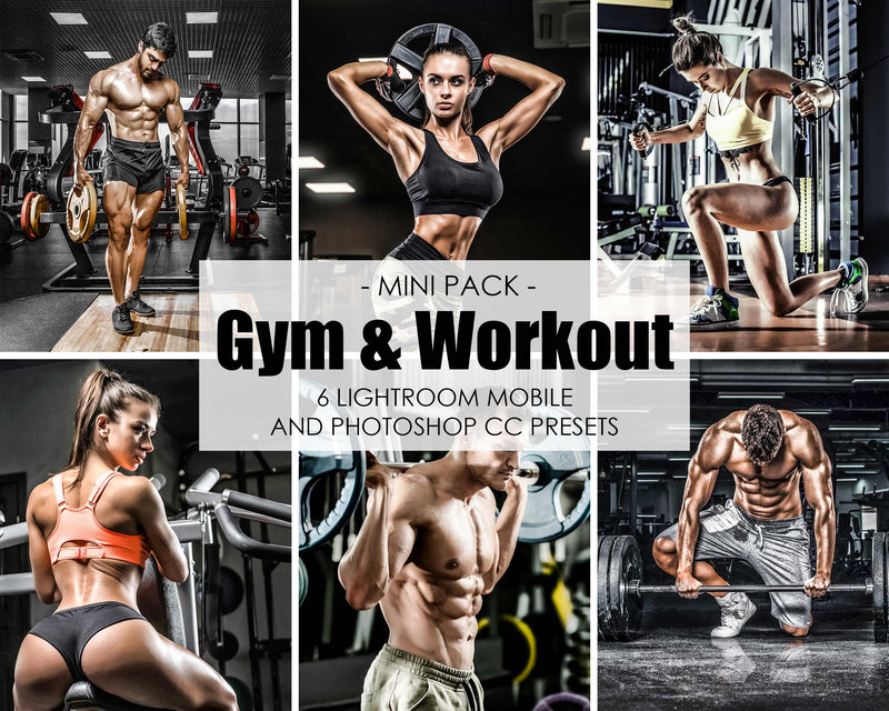 Gym and Workout Presets For Lightroom Classic Editing Of Fitness and Sports Photography