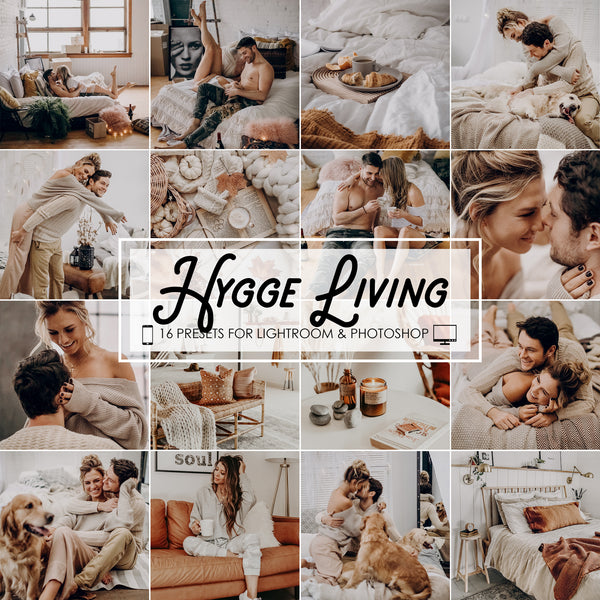 Hygge Living Lightroom Presets and Photoshop Filters, Vsco Filters
