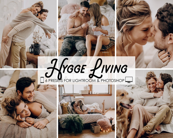 Hygge Living Photoshop and Adobe Lightroom Presets