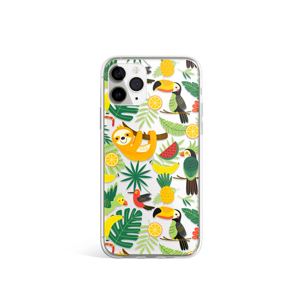 Wild Jungle Colorful Animals Print iPhone Case, Animal Tucan Cover, iPhone 11 X Xs Xr