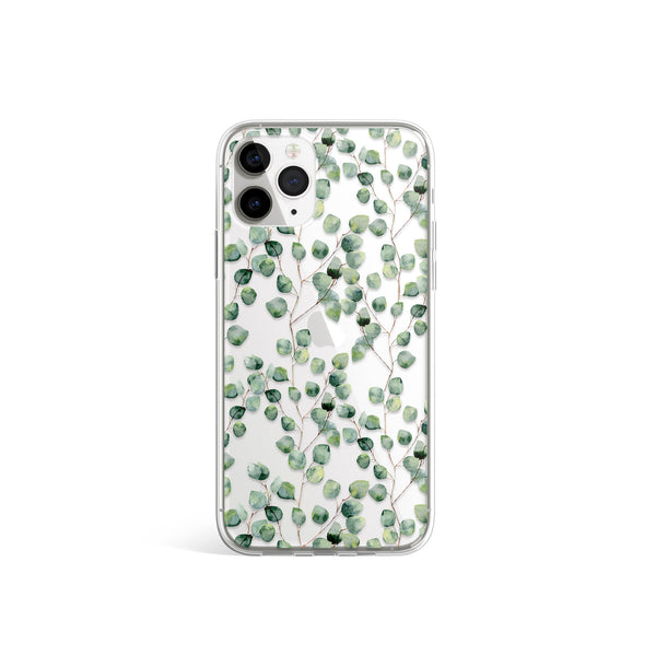 Floral Green Print iPhone Case, Tree Plant Leaf Cover, iPhone 11 Pro Max