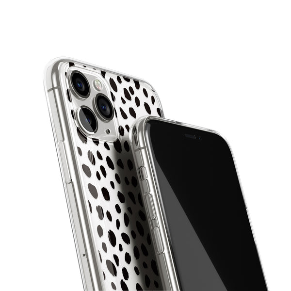 Polka Dots Animal Print iPhone Case, Black Dots Pattern Cover, iPhone 11 Pro
