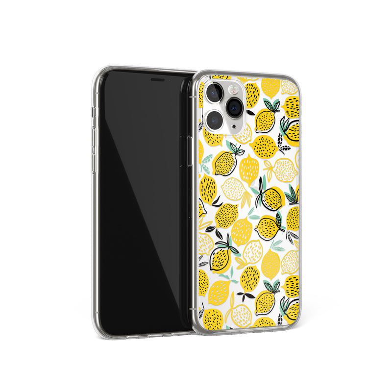 Yellow Lemons Print iPhone Case, Lemon Citrus Cover, iPhone 11 X Xs Xr