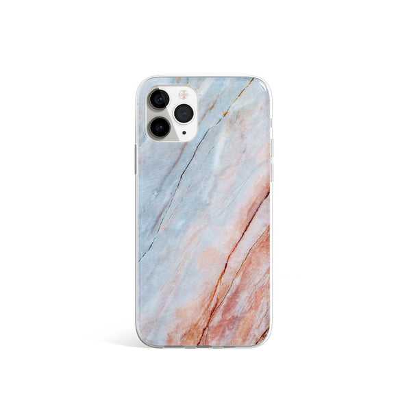 iPhone 11 Pro Silicone Case Dreamy Sunset, Marble Phone Case