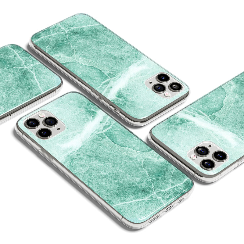 Emerald Ivory Marble Print iPhone Case, iPhone 11 Pro Max Case, iPhone X Case