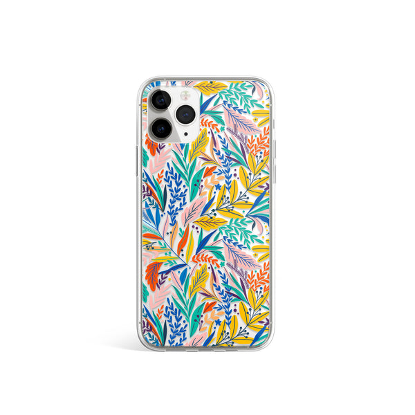 Exotic Summer iPhone Case, Tropical Exotic Jungle Floral Pattern Case For iPhone 11,XS,X