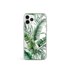 Lush Tropical Leaf Print iPhone Case, iPhone 11, iPhone X Xs Xr, iPhone 7 8 Plus