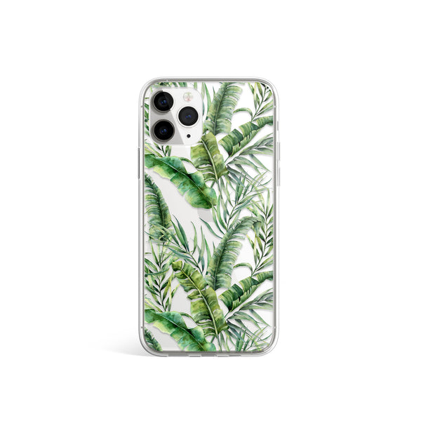 Palm Tree Banana Leaf iPhone Case, Floral Case, iPhone 11 Pro Max, iPhone X Xs Xr, iPhone 7 8 Plus