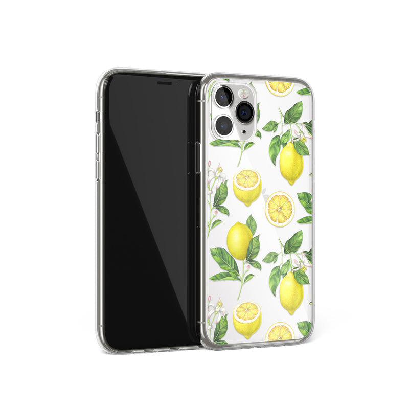 Yellow Lemons Print iPhone Soft Case, Lemonade Cover, iPhone 11 Pro
