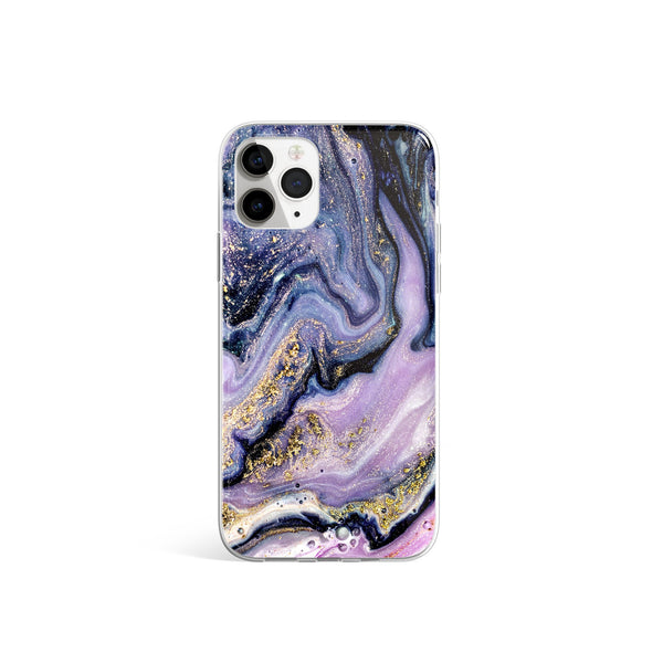 Purple Rain Violet And Pink Marble iPhone Case, Silicone Case For iPhone 11,XS,X
