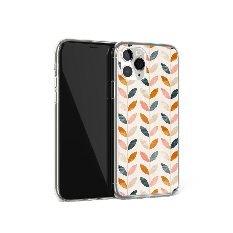 Retro Garden - Vintage Leaves Print iPhone Case, iPhone 11 Pro Max, iPhone X Xs Xr, iPhone 7 8 Plus