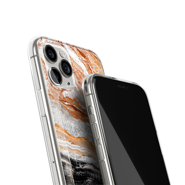Tiramisu Cheesecake Marble iPhone Case, Silicone Case For iPhone 11,XS,X