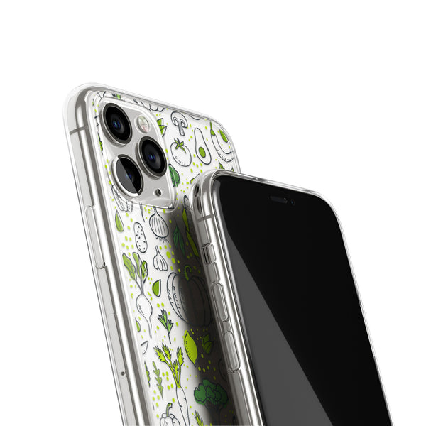 Veggie Salad Green Vegan iPhone Case, iPhone 11,XS,X, iPhone 7 8