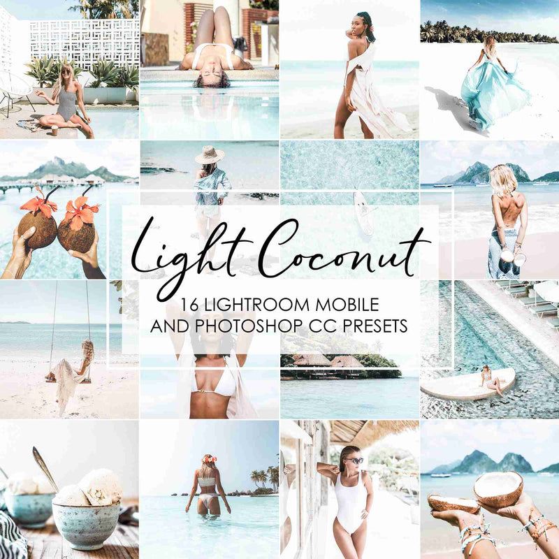 Light Coconut Bright Presets For Lightroom And Photoshop