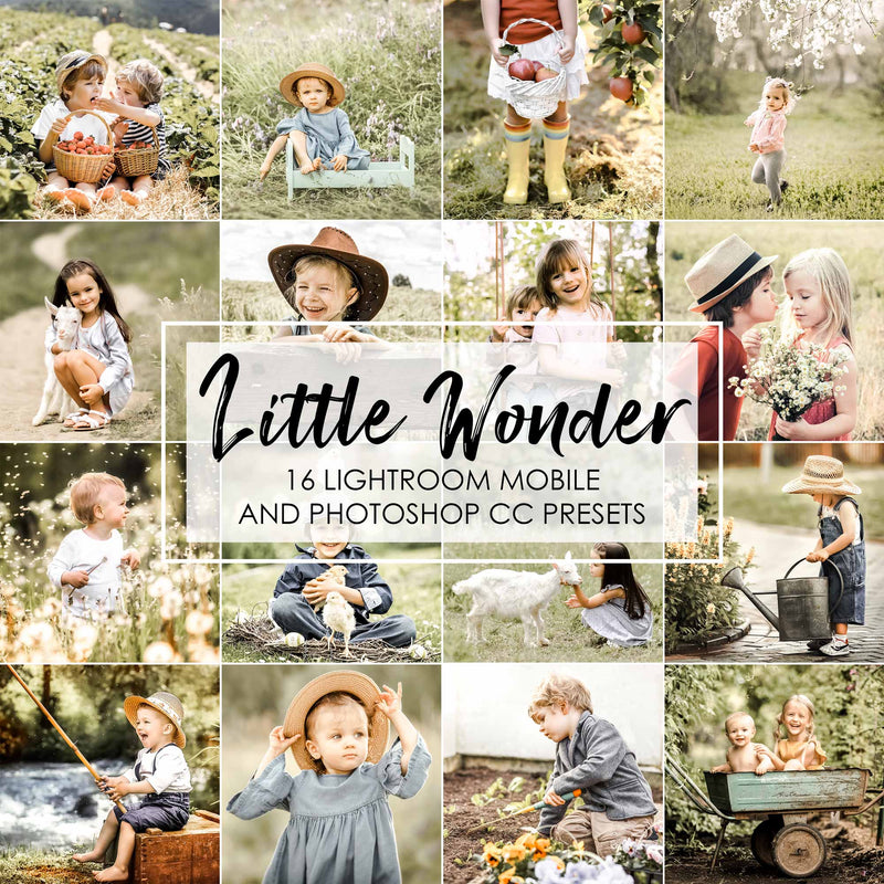 Little Wonder Kids Presets For Lightroom