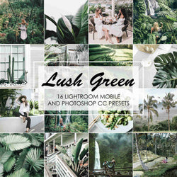 Lush Green Presets For Lightroom And Photoshop, Mobile And Desktop Version