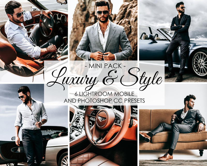 Luxury And Style Photoshop And Lightroom Mobile Filters And Presets